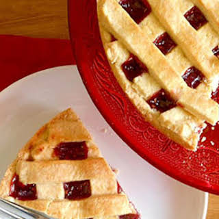 Jam Filled Italian Crostata Pie.