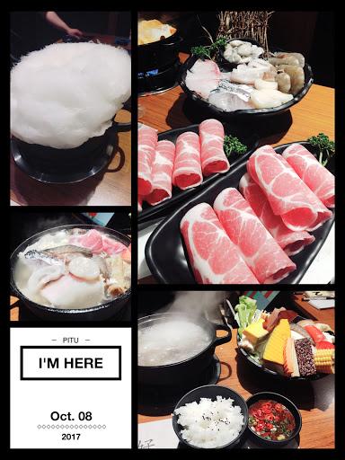 昆布柴魚高湯-梅花豬 關東壽喜鍋-綜合海鮮 配菜豐富,海鮮新鮮