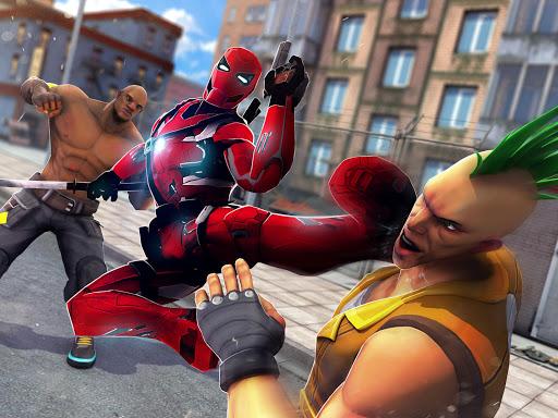 Superhero Ninja Battle: Streets Fighting Robot Socem 25 Screenshots 5
