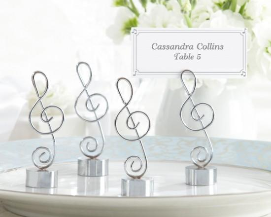 Music Note Place Card Holder from Hotref.com