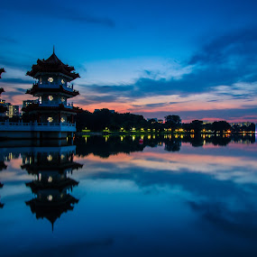 turning blue at Chinese Garden Singapore by Jack Lim - Landscapes Sunsets & Sunrises
