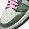 womens air jordan 1 mid se dutch green / beary green / light arctic pink / black