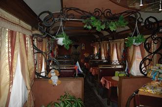 Photo: Dining car on the Trans-Siberian