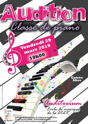 audition de la classe de piano de l'école de musique