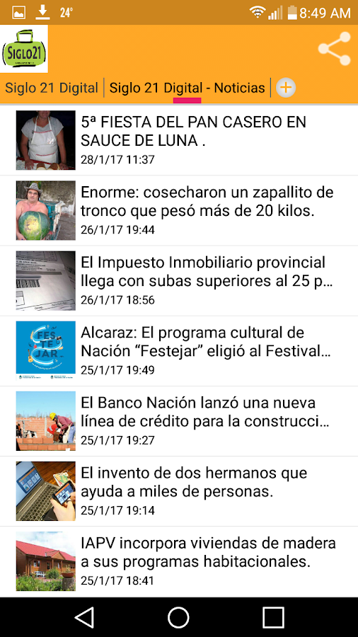 Radio Siglo 21 Digital- screenshot