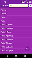 Screenshot of English Serbian Dictionary
