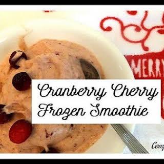 Cranberry Cherry Frozen Smoothie.