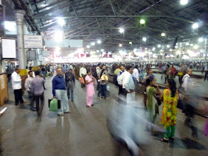 Photo: Victoria Terminus during the end of the day rush hour just before boarding our train to Asangaon.