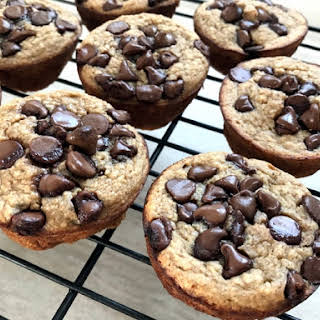 Chocolate Chip Banana Oat Muffins.