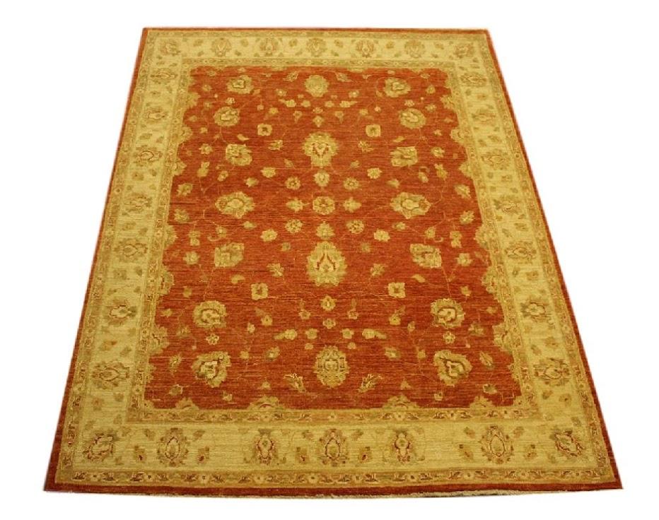 dywan ziegler farahan tradycyjny ceglasty orientalny ręcznie tkany z pakistanu 200x300cm