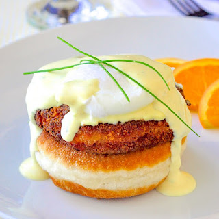 Crab Cakes Eggs Benedict.