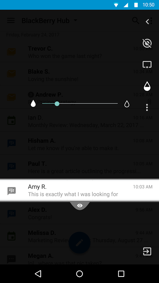 BlackBerry Privacy Shade- screenshot