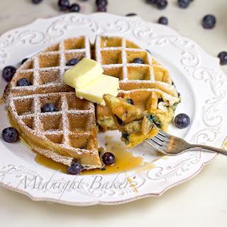Sour Cream & Greek Yogurt Blueberry Waffles