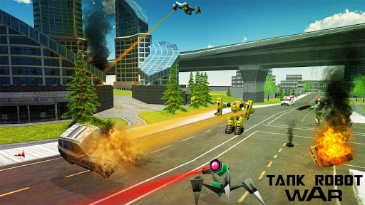 Télécharger Gratuit Guerre: Robots Vs Tanks APK MOD (Astuce) screenshots 1