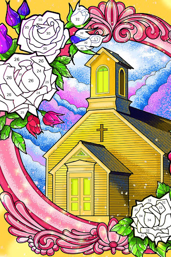 Bible Coloring - Paint by Number, Free Bible Games 2.5.3 screenshots 23