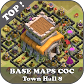 Top Base Maps COC TH 8