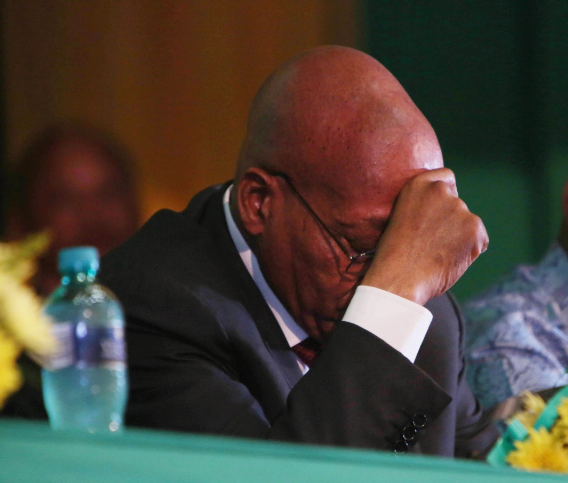 FILE PHOTO: President Jacob Zuma where he went to address supporters at the Pietermaritzburg City Hall Image: JACKIE CLAUSEN