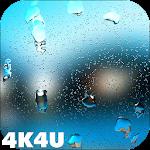 Rain Drops on Screen 4K 3D LWP