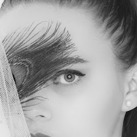 Anna by Michaela Firešová - Black & White Portraits & People ( female, portrait )