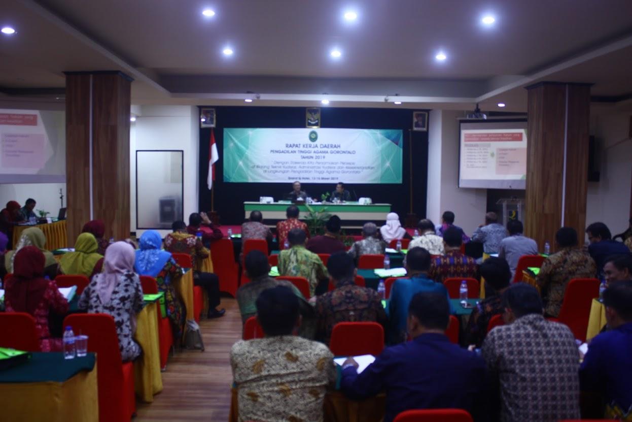 Rapat Kerja Daerah Pengadilan Tinggi Agama Gorontalo Tahun 2019
