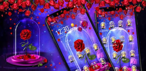 Приложения в Google Play – Red <b>Rose</b> In Magical <b>Glass</b> Theme