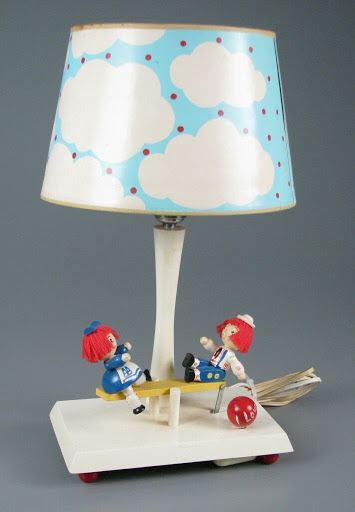 Lamp:Raggedy Ann and Andy Musical Seesaw Lamp