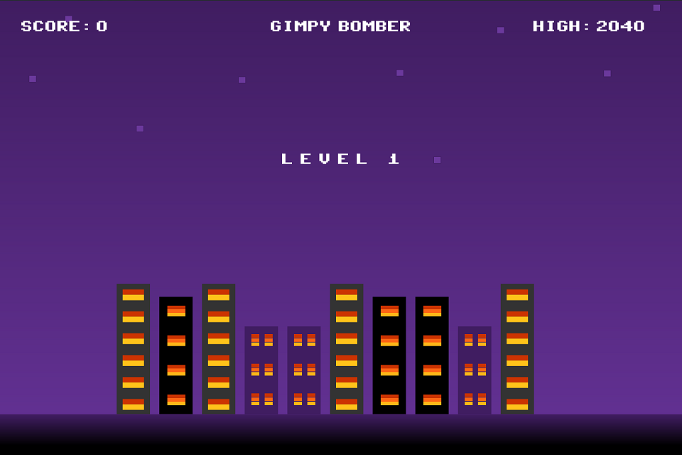 Gimpy Bomber- screenshot