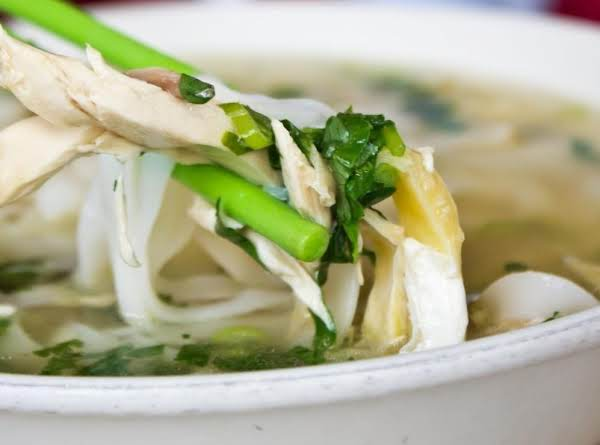 Pam's Asian Chicken Noodle Bowl (pho) Recipe