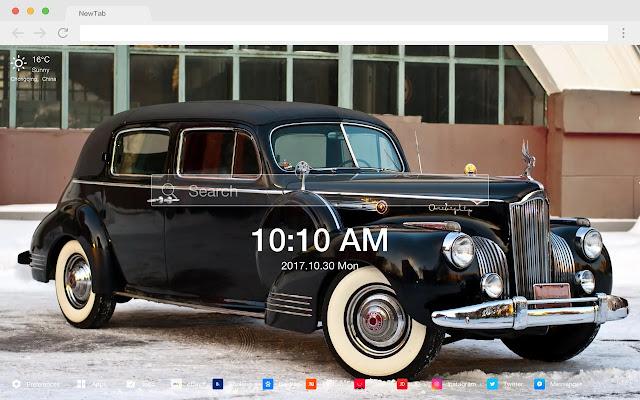 Vintage car popular HD car new tab page theme