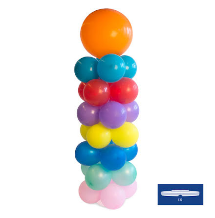 Ballongpelare, 135 cm inkl bas