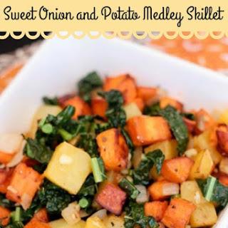 Sweet Potato, Yukon Gold, Kale and Sweet Onions Mix