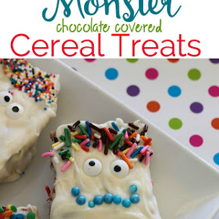 Monster Chocolate Covered Cereal Treats Recipe