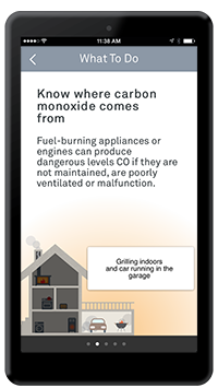 Know where carbon monoxide comes from what to do Nest app page