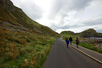 Photo: Another long walk to the main attraction. A bus is available, but the landscape was worth taking my time.