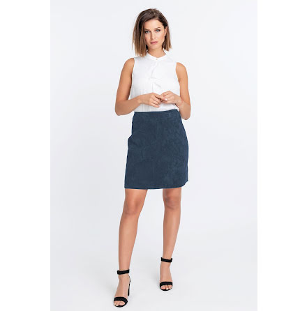 Jofama Tracy suede skirt navy