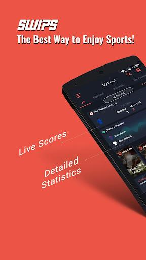 SWIPS - Sports Live Scores  screenshots 1