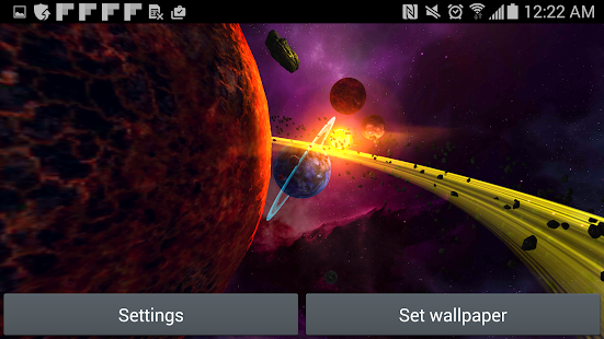 Alien Solar System Parallax WP Screenshot