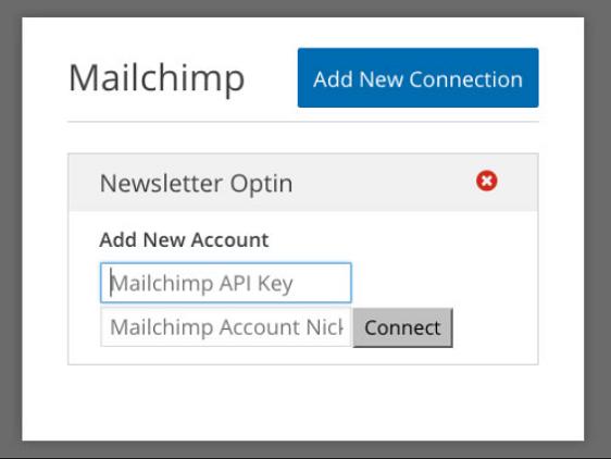 Find Mailchimp API keys