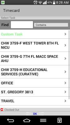 Timecard GPS - screenshot