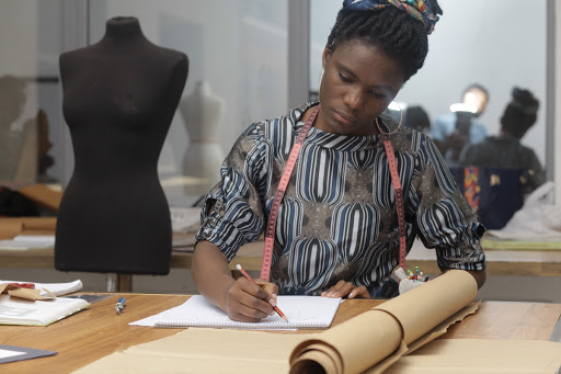 12 Stages Of Making A Dress With A Fashion Student Manuella Numfor Mcensal School Of Fashion And Design Google Arts Culture