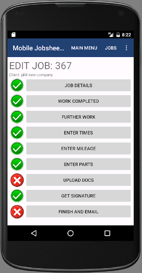 Mobile Jobsheet- screenshot