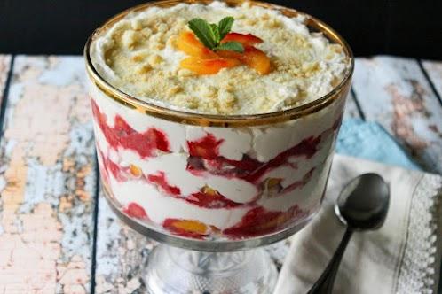 Italian Peach Melba Trifle