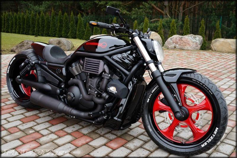 """Harley Davidson V Rod """"Red"""" by Fredy"""
