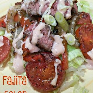 Tex-Mex Fajita Salad (don't forget the cheese)