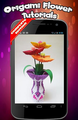 折り紙の花のチュートリアル