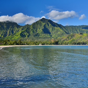 Hanalei Bay, Kauai by John Canning - Landscapes Waterscapes (  )