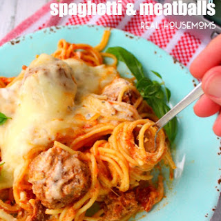 Slow Cooker Cheesy Spaghetti & Meatballs