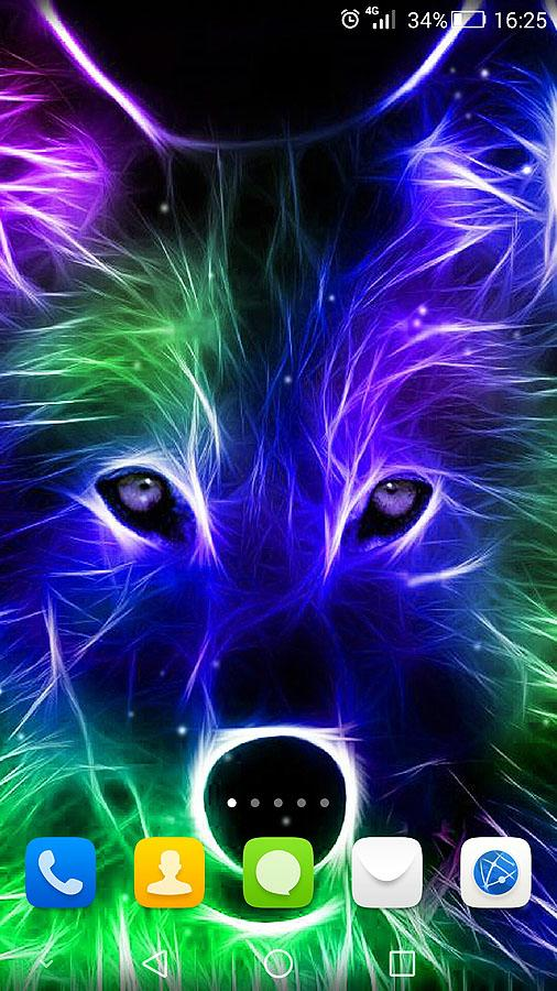 3d wild animals live wallpaper android apps on google play - Neon animals wallpaper ...