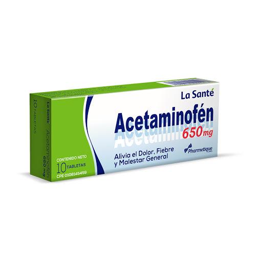 Acetaminofen Elter 650 Mg X 10 Tabletas La Sante 650mg x 10 Tabletas