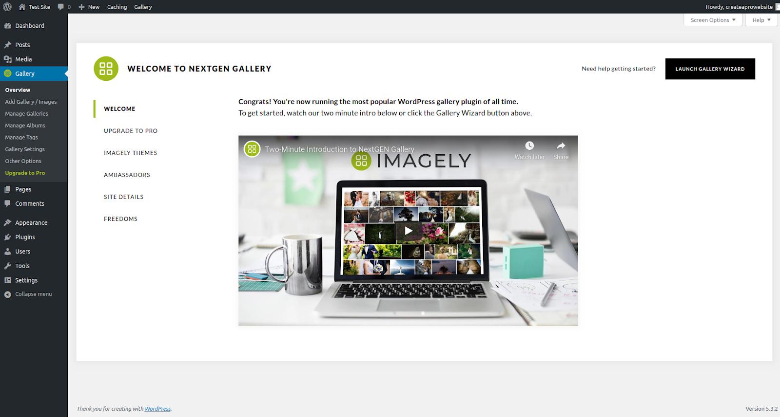 nextgen wordpress gallery plugin features